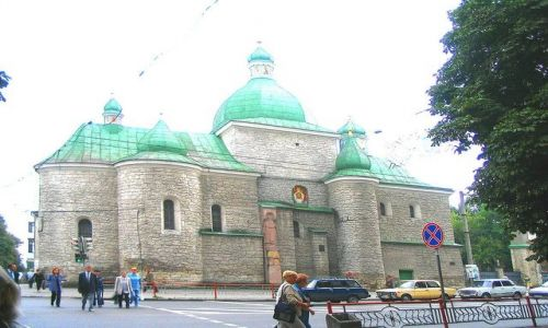 UKRAINA / Podole / Tarnopol / Cerkiew w Tarnopolu