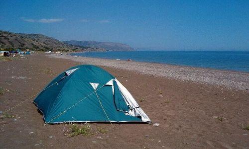 UKRAINA / brak / Morskoje / Camping na plazy