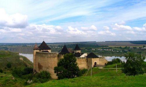 Zdjecie UKRAINA / Czerniowiecki / Chocim / zamek na skale