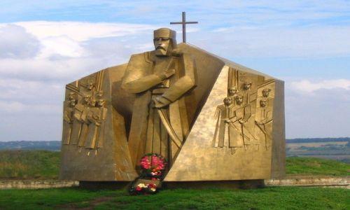 Zdjęcie UKRAINA / Czerniowiecki / Chocim / pomnik Sahajdaczego