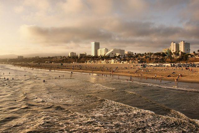 Zdjęcia: Los Angeles, Kalifornia, Plaża w Santa Monica, USA