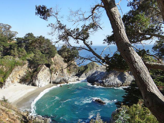 Zdjęcia: Julia Pfeiffer Burns State Park, California, zatoki Atlantyku, USA