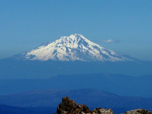Zdj�cia: Lassen Volcanic NP, ze szczytu Lassen, mount shasta, USA