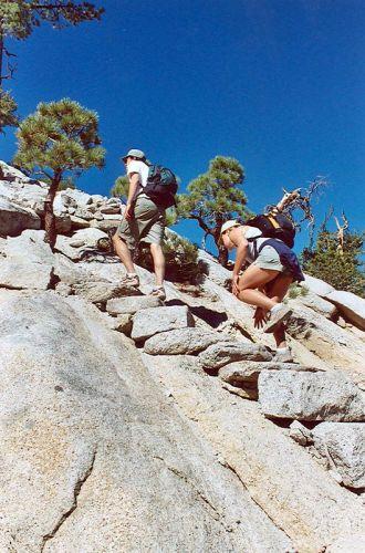 Zdjęcia: yosemite np - kilka ostatnich kilometrow na szlaku do half dome, california, half dome tuz tuz, USA