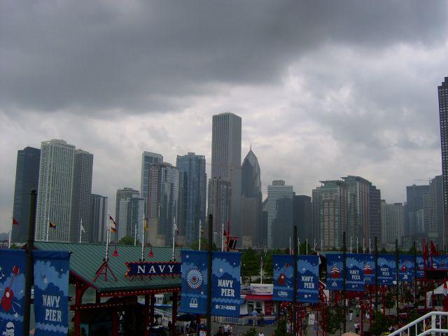 Zdjęcia: Chicago, Illinois, Pochmurne wieżowce, USA
