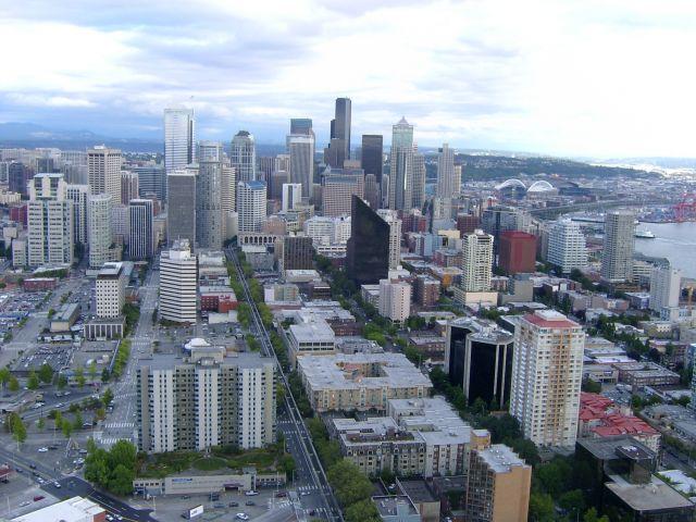 Zdj�cia: Seattle, Washington, Widok z wie�y, USA
