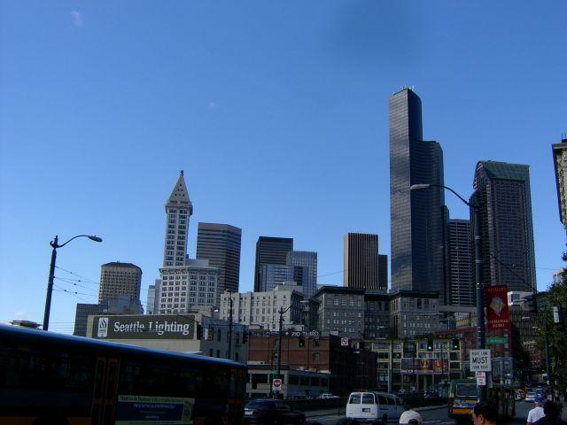 Zdjęcia: Seattle, Washington, Wysokie domy, USA