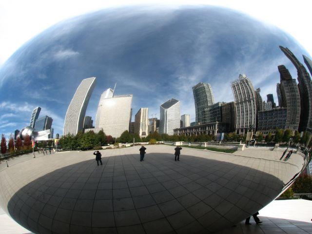 Zdjęcia: Chicago, Illinois, Chicago w krzywym zwierciadle, USA