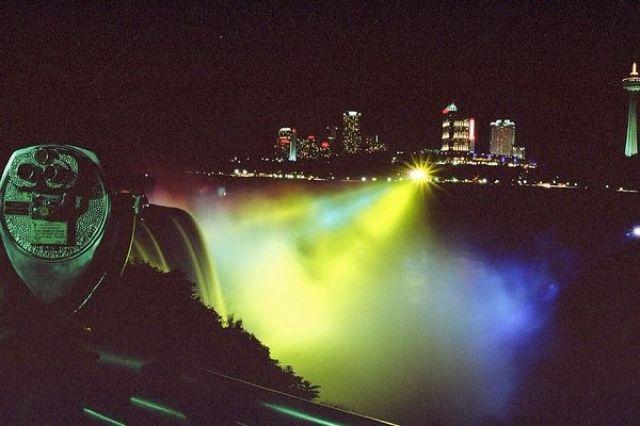 Zdjęcia: Niagara Falls, NY, Niagara Noca, USA
