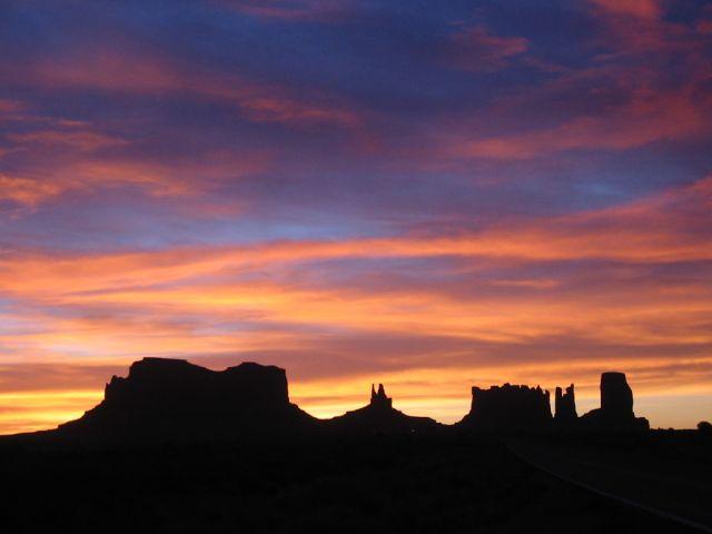 Zdjęcia: Monument Valley, Utah/Arizona, wschod slonca, USA