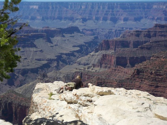 Zdj�cia: Grand Canyon, Arizona, strach vs. ciekawosc, USA