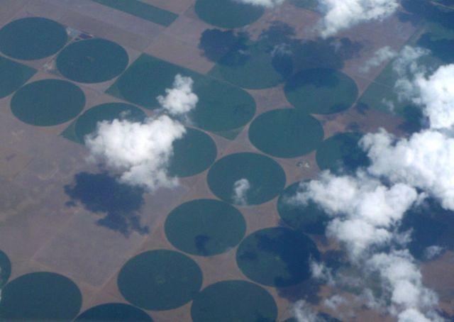 Zdj�cia: Kansas, pola uprawne z samolotu, USA
