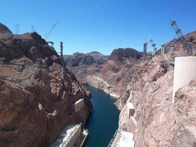 Zdjęcia: Arizona / Newada, rzeka Kolorado z zapory Hoovera , USA