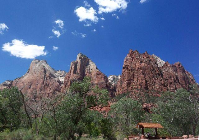 Zdjęcia: Utah, Trzech Patriarchow w parku Zion , USA