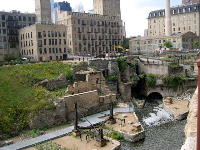Zdjęcia: Minnesota, Minneapolis - zabytkowe ruiny mlyna :), USA
