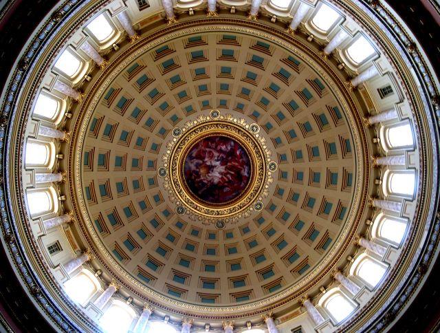 Zdjęcia: Wisconsin, kopula na Kapitolu w Madison, USA