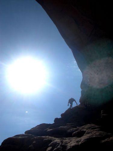 Zdjęcia: Utah, wspinaczka na jeden z lukow , USA