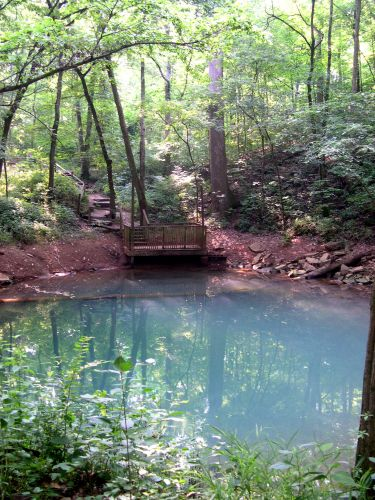 Zdj�cia: Kentucky, blekitne jeziorko obok Last River, USA