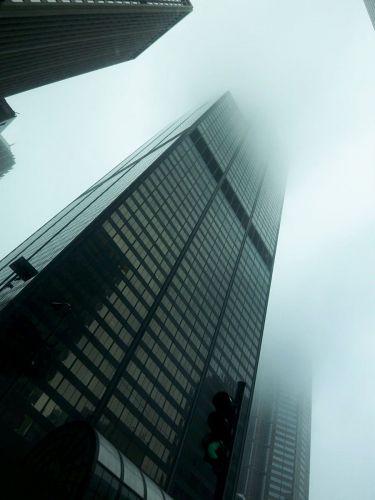 Zdjęcia: Chicago, Sears Tower we mgle, USA