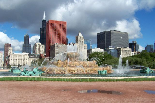 Zdjęcia: Illinois / Chicago, Buckingham Fountain, USA