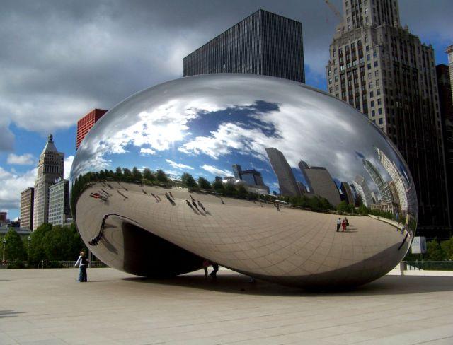 "Zdjęcia: Illinois / Chicago, Cloud Gate , chicagowska ""fasolka"", USA"