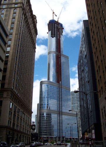 Zdjęcia: Illinois / Chicago, Trump Tower w budowie, USA