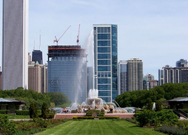Zdjęcia: Illinois / Chicago, Buckingham Fountain 2, USA