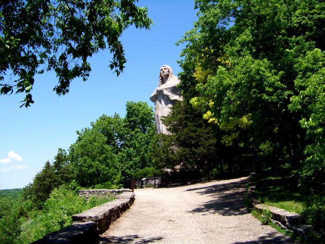 Zdj�cia: Illinois, statua Black Hawk, USA