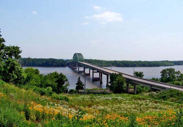 Zdjęcia: Iowa / Muscatine, most na Mississippi, USA