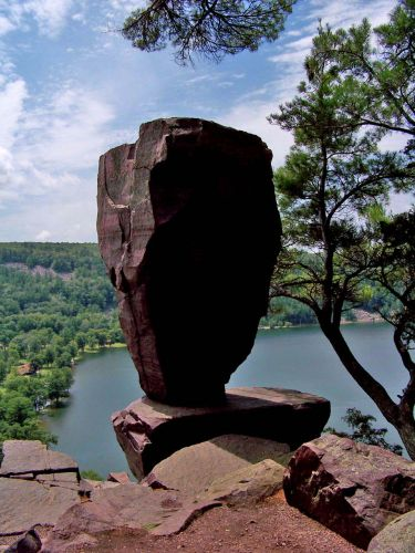 Zdjęcia: Wisconsin / Devils Lake State Park, Balanced Rock, USA