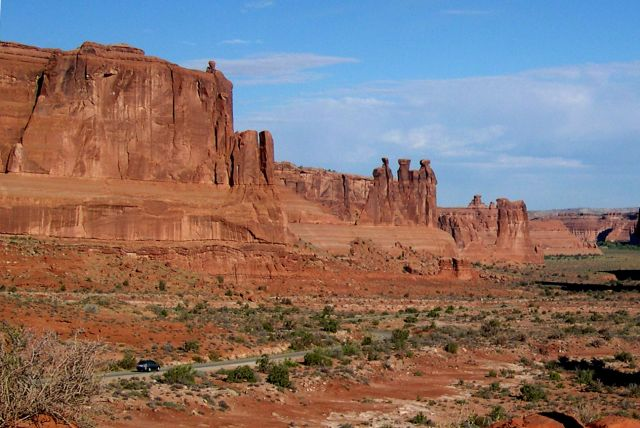Zdjęcia: Utah / Arches National Park, droga do lukow w parku, USA