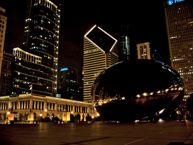 Zdj�cia: Illinois / Chicago, widok z Millenium Park, USA