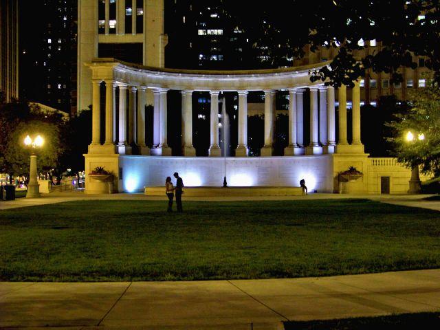 Zdjęcia: Illinois / Chicago, jedna z fontann w Millenium Park, USA