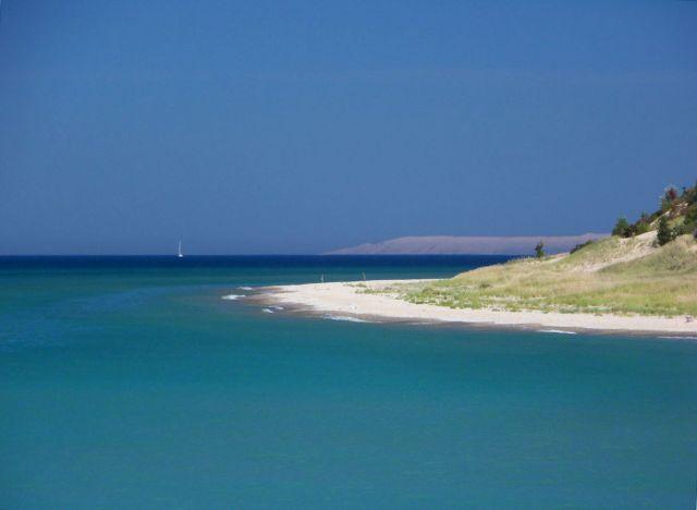 Zdjęcia: Michigan / Frankfort, widok na jezioro Michigan, USA