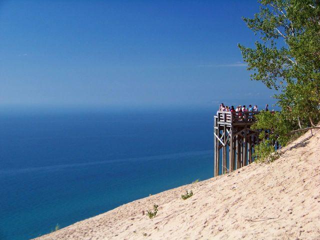 Zdjęcia: Michigan, jezioro Michigan z wydm, USA