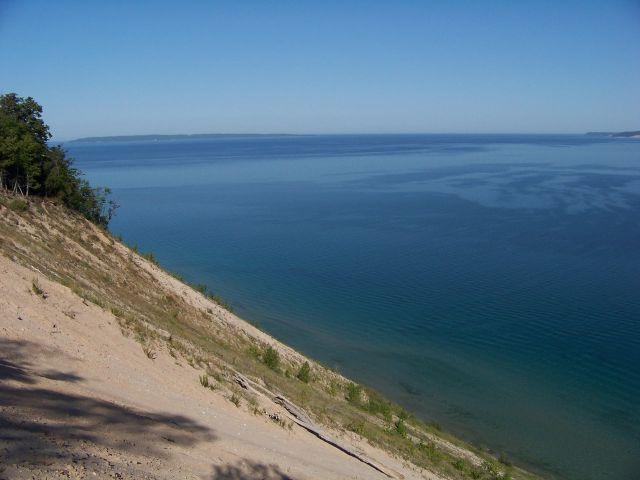 Zdj�cia: Michigan / Sleeping Bear Dunes, widok z Pyramid Point, USA