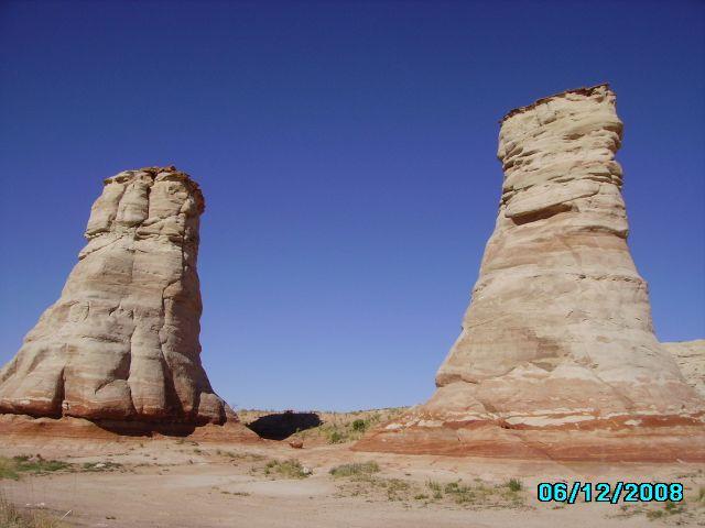 Zdj�cia: w drodze do Monument Valley, Arizona, Elephant Feet, USA
