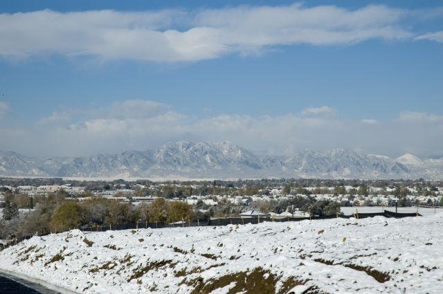 Zdjęcia: Denver / Widok na masyw gór Colorado, Colorado, W październiku w Denver, USA