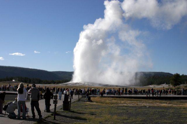 Zdjęcia: Yellowstone NP, Wyoming, Gejzer, USA