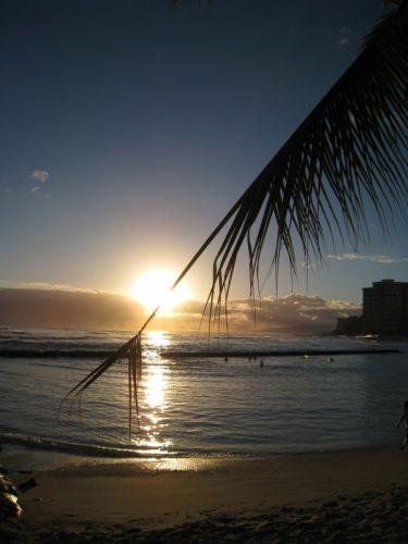Zdjęcia: Waikiki Beach, Hawaje, Zachód słońca, USA