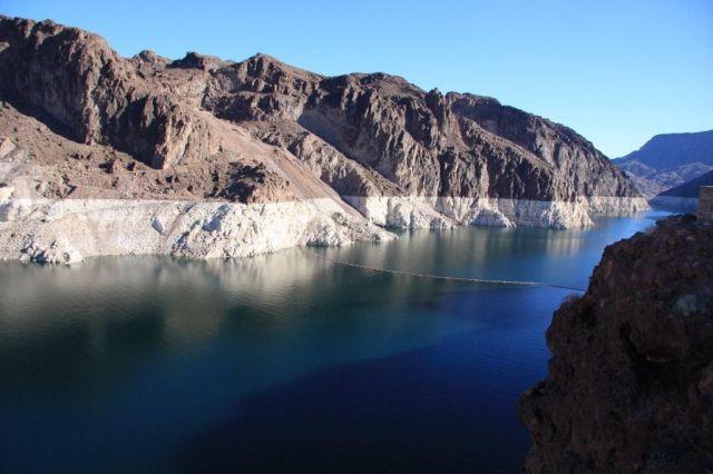 Zdjęcia: Rzeka Colorado, Granica stanów Arizona i Nevada, Na zaporze Hoover Dam, USA