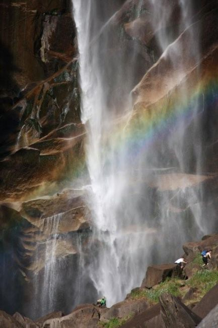 Zdjęcia: Potok Yosemite , California, Yosemite National Park jedna z III kaskad , USA