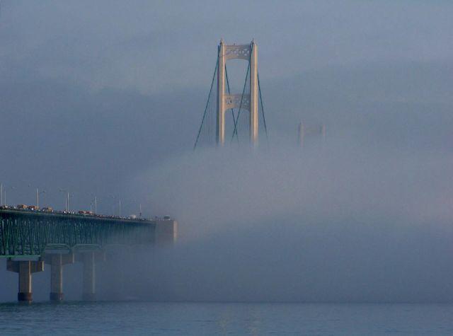 Zdjęcia: Mackinaw / stan Michigan, Mackinac Bridge 4, USA