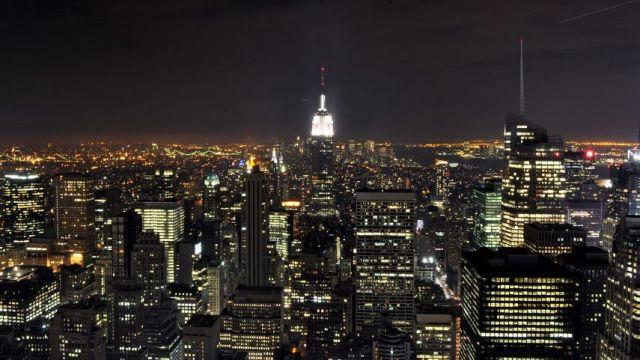Zdjęcie:Manhattan nocą  USA  NY  Nowy Jork