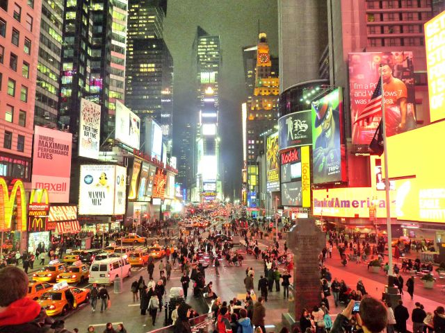 Zdjęcia: NYC, NY, Z Tkts stairs na Times Square, USA