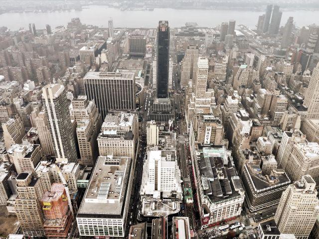 Zdjęcia: NYC, NY, Widok z Empire state building (2), USA