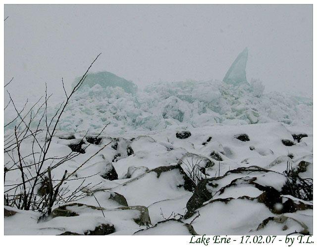 Zdjęcia: Cleveland, Jezioro Erie, Zima nad Erie, USA
