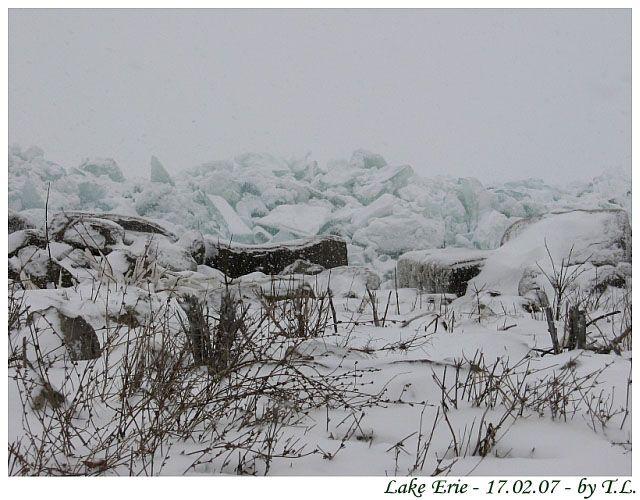 Zdj�cia: Cleveland, Jezioro Erie, Zima nad Erie 4, USA