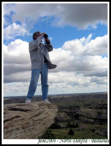 Zdjęcia: na skale, Dakota Polnocna, Badlands - Park Narodowy - North Dakota, USA