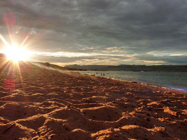 Zdjęcia: Powell Lake / Page, Arizona, Ostatni przebłysk dnia, USA